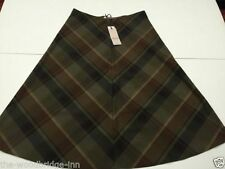 Marks and Spencer Viscose Checked Skirts for Women