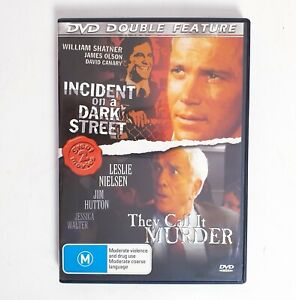 Incident on a Dark Street + They Call it Murder 2 x Movie DVD Region 4 AUS