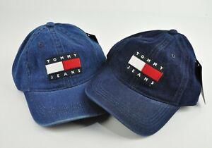 TOMMY JEANS Denim Sports  Embroidered Flag Logo Hat Cap