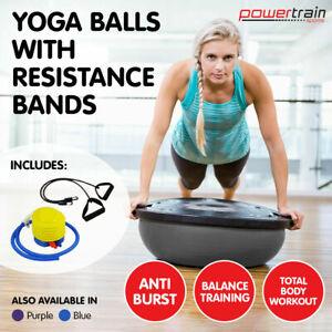 Powertrain Fitness Yoga Bosu Ball Gym Workout Balance Trainer Pilates Grey