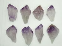 "XLG 2.2""-2.7"" NATURAL AMETHYST CRYSTAL POINTS - 8 PC LOT - BEST PRICE"