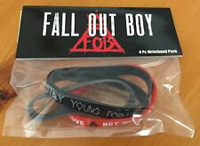 NEW 4 Pack AUTHENTIC  FALL OUT BOY Rubber Wristbands Bracelets  BLOW OUT SALE!!!