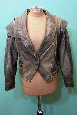 90er Style Leder Jacke Vintage-Fashion Gr L/40 braun Damen 90ies cool