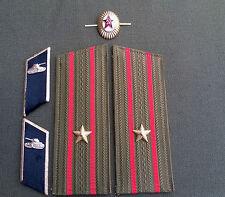 Colección escarapela cuello espejo hombro nudosidades tropas de tanques URSS Ejército Soviética
