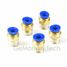 5pcs Male Straight Connector Tube OD 10mm To 1/4 NPT Push In To Connect Fitting