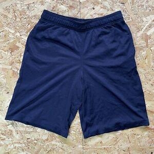 Women's Navy Blue Champion Basketball Sports Shorts Size XL UK 20-22 (USA 16-18)