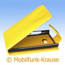 Funda abatible, funda, estuche, funda para móvil para LG e400 Optimus l3 (amarillo)