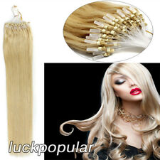 Microtube Extensions Loop Micro Ring Bead Tip Brazilian Human Remy Hair AnyColor