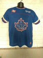 MENS CANADA Canadian clothing company BLUE JERSEY T-SHIRT UK M vintage maple