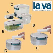 Lava Vakuumdosen Dosen Vakuumbehälter 6 Teile BPA frei Vakuumierer Vakuum Pumpe