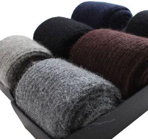 US Mens Warm & Comfortable & Pure Socks 100% Wool Cashmere Thick Socks