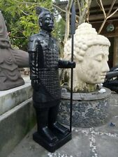 LARGE CHINESE WARRIOR STATUE - 150CM HIGH - BLACK COLOUR IN STOCK NOW