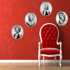 Marilyn Monroe Black Wall Decal Vinyl Stickers Decor Removable Art Home Mural