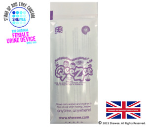 QeeZee by Shewee Sick Bag with Wipe - Ideal for Travel Sick/ Morning Sickness