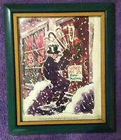 1975 🔥BAH HUMBUG🔥 Original Playboy Magazine Cartoon in a Glass & Plastic Frame
