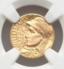 1915-S Panama Pacific Expo NGC MS64 Gold Dollar Commemorative Commem PPIE GEM BU