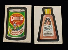 1973 TOPPS WACKY PACKAGES COMMIE 2nd SERIES WHITE BACK STICKER & COVER GHOUL LOT