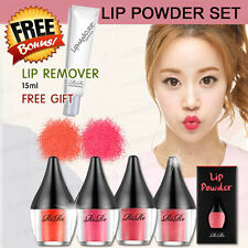 [RiRe] Korea Cosmetic Lip Powder Fashion 4 Colors + Lip Remover Set Waterproof