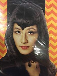 Woman's Vampiress Wig Halloween Costume Cosplay Vampire Gothic Black Long
