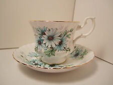 "ROYAL ALBERT ENG CHINA CUP & SAUCER ""MARGUERITE""  PRETTY BLUE FLORAL PATTERN !!!"