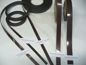 Magnetic Self Adhesive Tape. 10, 12.7. 20, 25mm widths & 2 Different Strengths