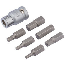 Draper 83565 7pc 1/2 Plaza drive experto Hexagonal Allen Bit Set Métrico 4-12mm