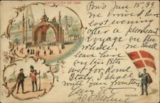 1900 Paris Expo Universelle Danemark Denmark USED 1899 Postcard/Cover