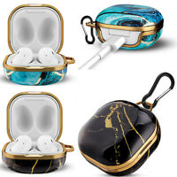 For Samsung Galaxy Buds Live Case Earbuds Protective Cover Shell with Carabiner