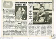 Coupure de presse Clipping 1981 (2 pages) Caroline Chérie avec Martine Carol