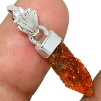 Orange Kyanite Point 925 Sterling Silver Pendant Jewelry AP119566 69X