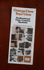OMEGA & TOYO VIEW CAMERA SYSTEMS BROCHURE/130621