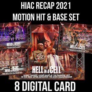 HIAC HELL IN A CELL RECAP LASHLEY MOTION HIT 8 CARD SET Topps WWE SLAM DIGITAL
