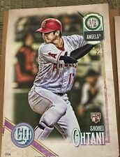 SHOHEI OHTANI 2018 Topps Gypsy Queen Poster 10x14 17/99 Jersey # 1/1 WOW!