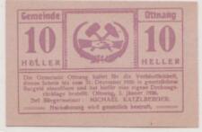 MINES MINEURS MONNAIE DE NÉCESSITE NOTGELD D'OTTNANG 10 HELLER AUTRICHE DE 1920