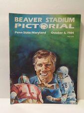 Beaver Stadium Pictorial football program: Oct.1984 Penn State vs Maryland