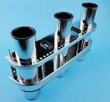 Fishing Outrigger Rod Holder Tackle Rack Stainless Steel 3 Tube Stock New  Nice