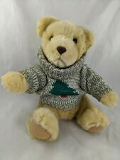 "Hallmark Tan Bear Plush Tree Sweater 10"" Stuffed Animal Toy"