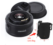 Gift: Lens Bag. & Yongnuo YN  50mm Prime Fixed Lens AF MF F/1.8 for Canon Camera