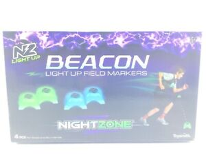 Night Zone Beacon Light Up Field Markers 4 Pieces Per Box - Kids 6+ By Toy Smith