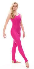 All Colours & Sizes Shiny Nylon Shiny Stirrup Dance Gym Catsuit By Katz KDC011