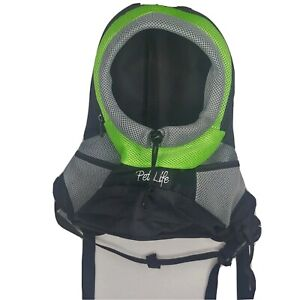 Pet Life Backpack Dog Cat Pet Carrier Animal Zip Straps Hiking City Pouch Small