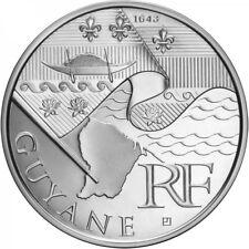 Pièce 10 euros argent des régions 2010 Guyane