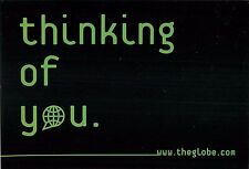 Thinking of You The Globe Online Community Advertisement Postcard 6x4""