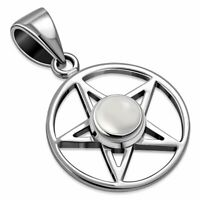 Gothic Necklace Forbidden Collection: The Rose Cross Pendant Magic Pentagram