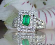 Ausgesuchter Kolumbianischer Smaragd Ring mit Brillanten 1.24 ct. WG 750 4.200€