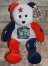 MLB 1999 Boston All Star Game Beanie PlushTeam ML Bear w Tag Red & White Blue