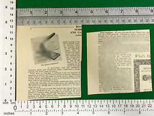 Juneero multi-tool  - vintage press release 1940