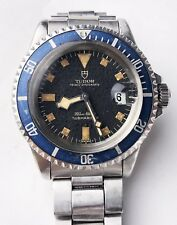 "1976 Tudor By Rolex Submariner Blue ""Snowflake"" 9411/0 Moon Dial-All Original"