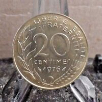 CIRCULATED 1976 20 CENTIMES FRENCH COIN (32117)1