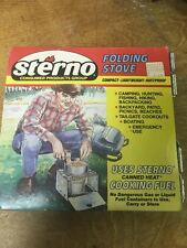 Vintage STERNO Folding Stove Compact Lightweight Rustproof